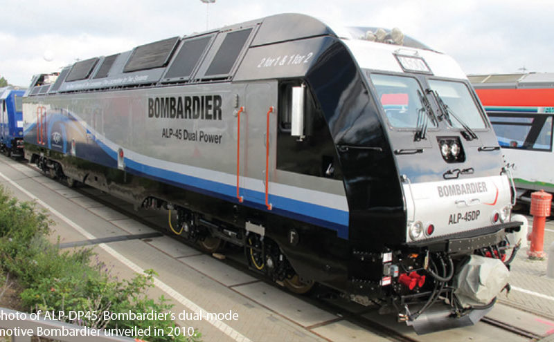ALP-DP45, Bombardier's dual-mode locomotive Bombardier unveiled in 2010.