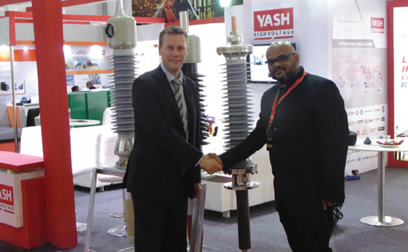 Laurent Vlesik (left) and Keyur Shah at the launch of India's first localized RIP bushing, by Yash High Voltage Insulators
